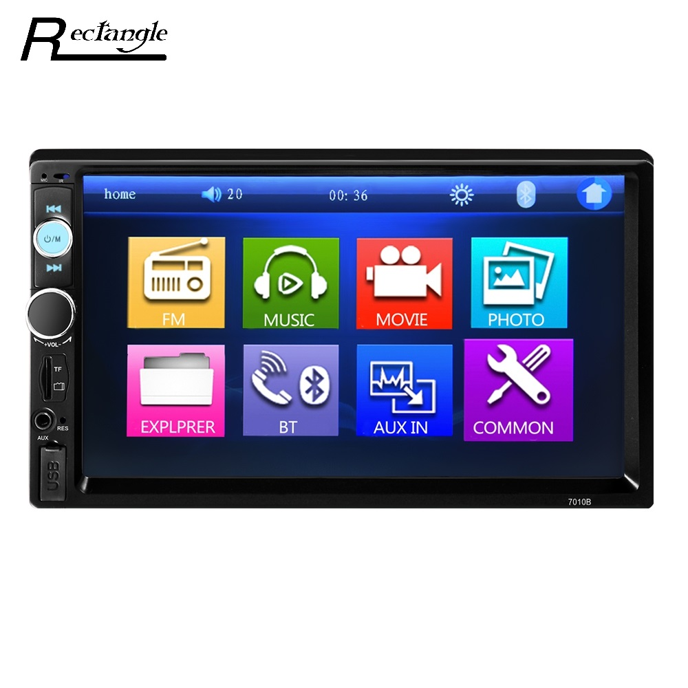 Universal 7010B 7 pulgadas MP5 reproductor 2Din pantalla táctil reproductor de vídeo del coche audio estéreo multimedia FM/MP5/ USB/aux/Bluetooth Cámara