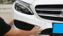 Lapetus Outside Front Fog Lamp Lights Bumper Protection Strip Cover Trim 2 Pcs For Mercedes Benz C CLASS W205 Sedan 2015 - 2018 yimaautotrims auto accessory front fog lights lamp eyelid eyebrow cover trim for mercedes benz c class w205 sedan 2015 2018