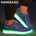 2017 Led Luminous Shoes Usb Charging Light Shoes Colorful Glowing Leisure Flats Men Casual Shoe Glowing Lighted Shoes For Adults