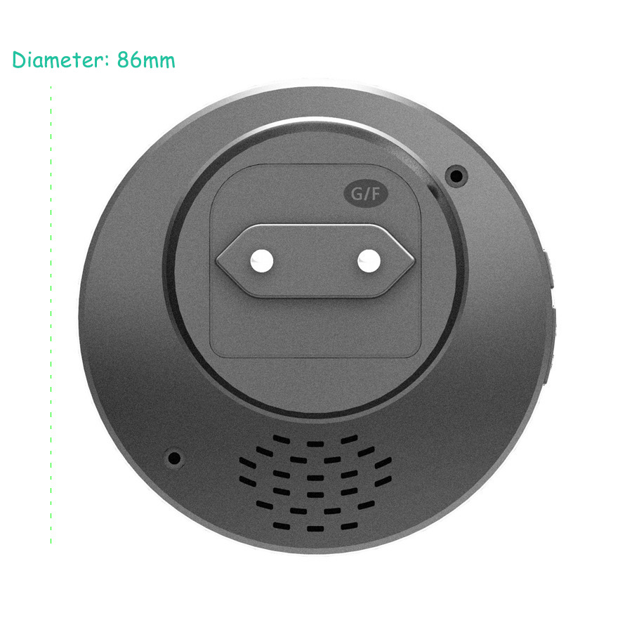 SMATRUL New Waterproof Wireless Doorbell EU Plug 300M Remote smart Door Bell Chime ring  1 2 button 1 2 3 receiver no battery Deaf Gorgeous lighting black 8