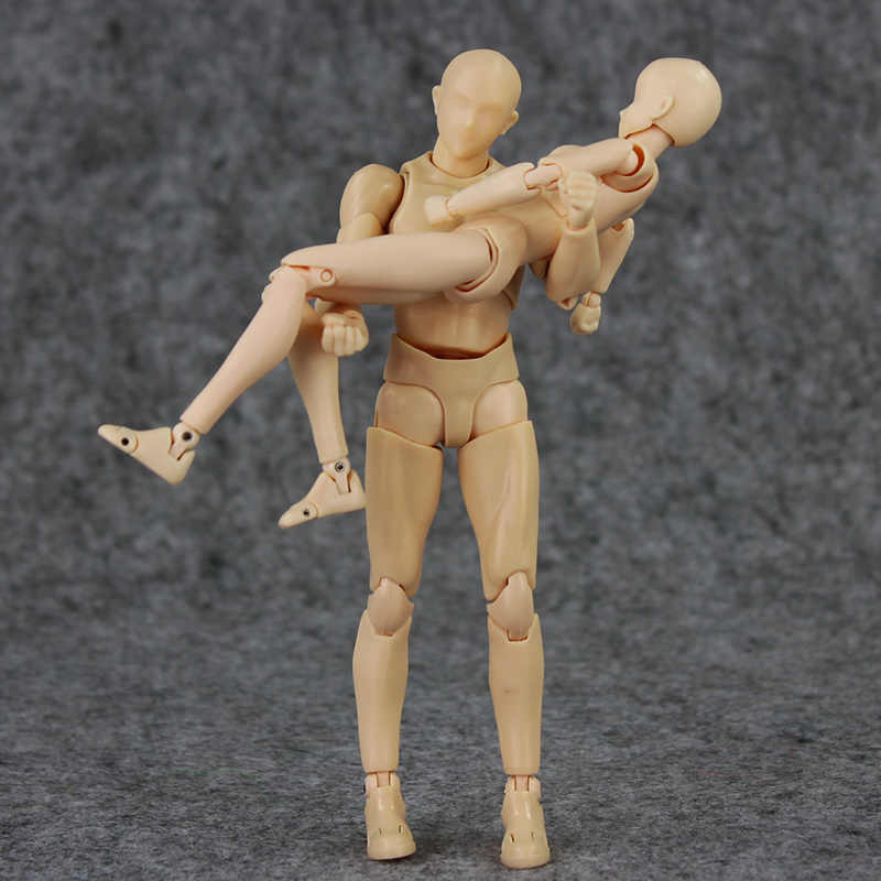 Estilo 2 Figma Arquétipo Ele Ela cor da pele DO CORPO 13 cm Ferrite PVC Action Figure Figma Figura Modelo Da Boneca