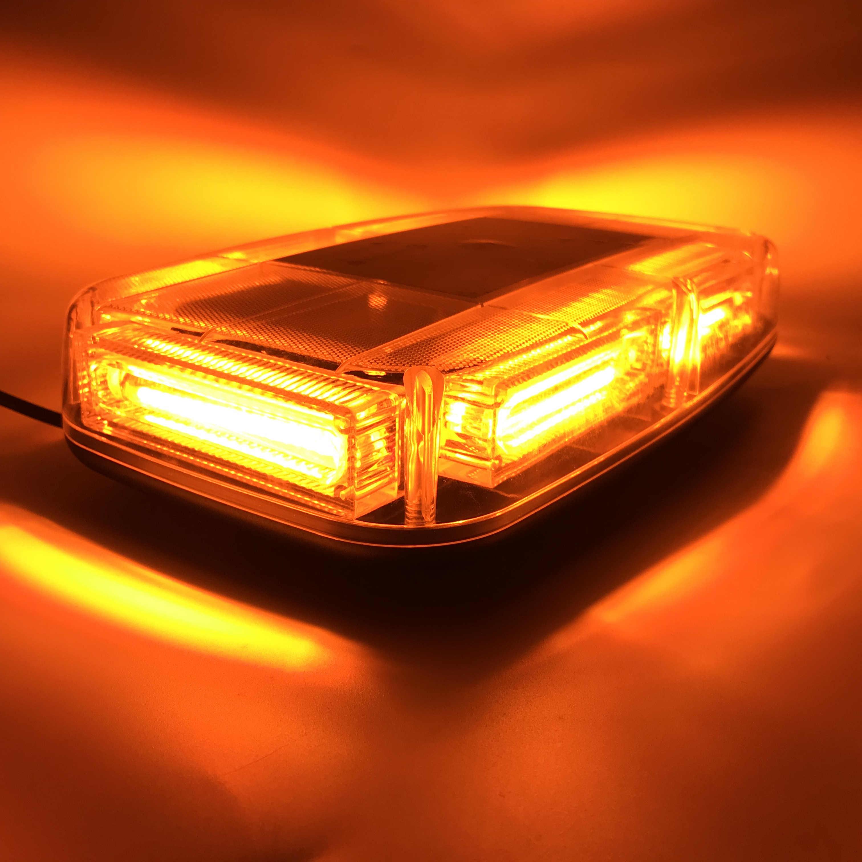 Trucks COB LED Amber/&white Roof Top Warning Strobe Light Firefighters for 12V Vehicles Burst Series Emergency Hazard Beacon Lights Bar w//Magnetic Base Snow Plow Police