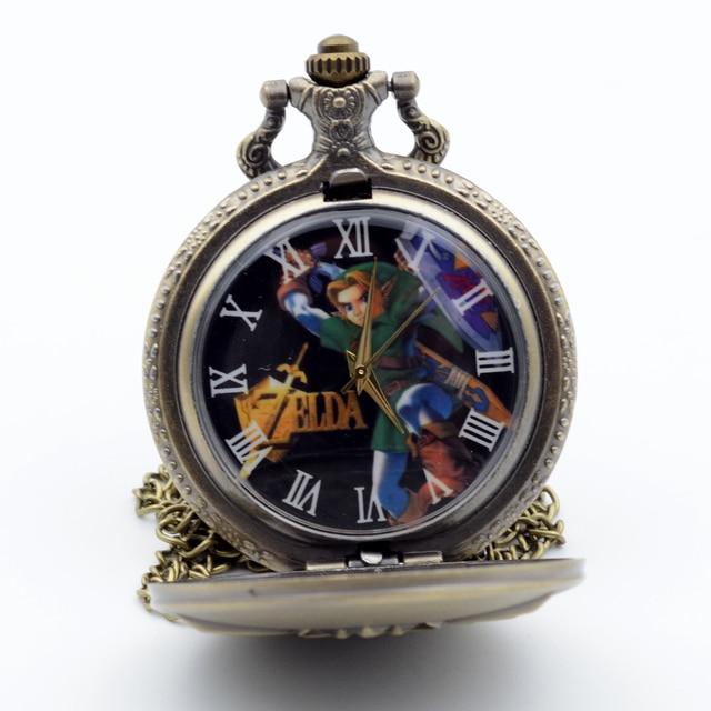 Fashion The Legend of Zelda: Skyward Sword Game Bronze Quartz Pocket Watch Analog Pendant Necklace Men Womens Watches Chain Gift