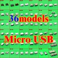 36 Micro USB Jack 5 p 5 pin toma de carga USB conector para ASUS Samsung HTC Lenovo teléfono móvil de ZTE Tablet pc mid