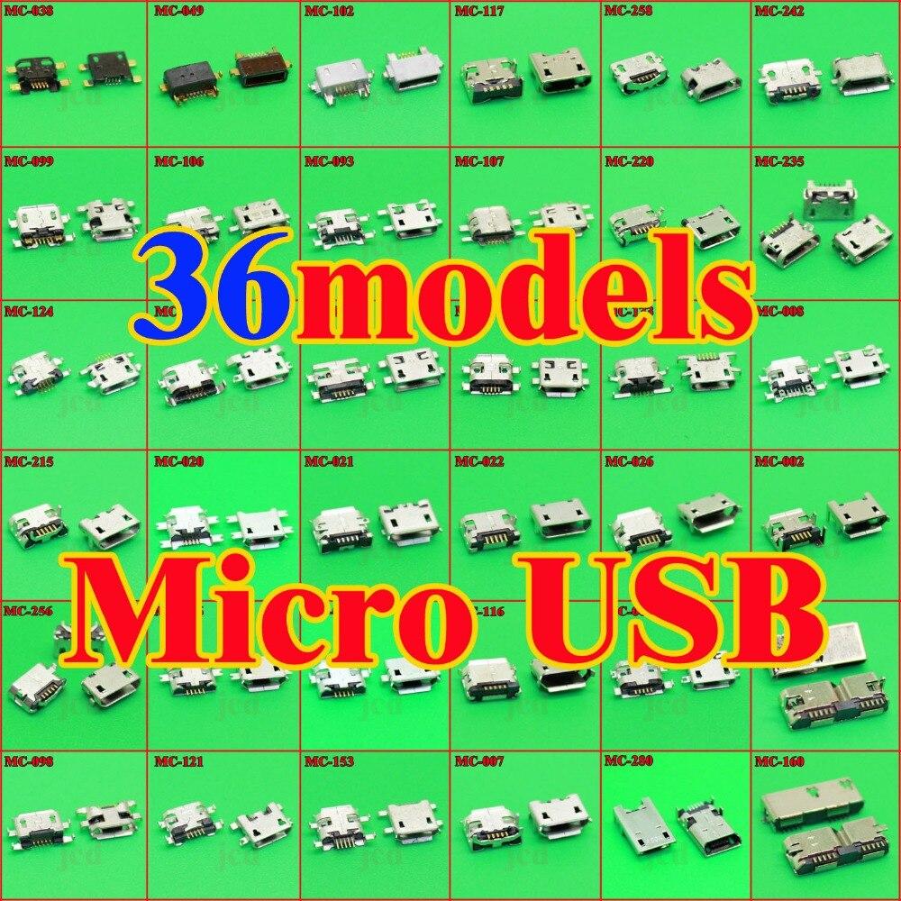 36Models Micro USB Jack 5p 5pin USB Charging Socket Connectos
