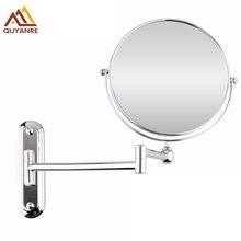 Ванная комната настенный Расширенный раскладное составляют увеличительное зеркало Ванная комната Зеркало Chrome Двойной