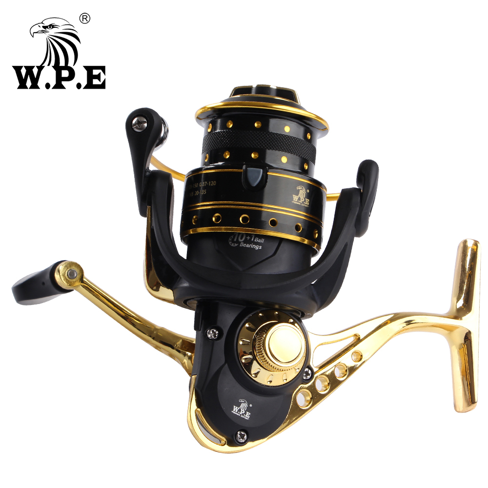 W.P.E CANO BLADE 2000/3000/4000/5000 Series 10+1 Ball Bearings Carp Fishing Reel With Super Light Aluminum Spool Spinning Reel