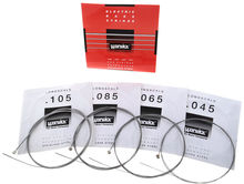 Warwick Red Label 4-String Medium Stainless Steel Bass Strings 42200 Gauge 045-105