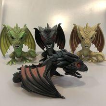 Funko pop Secondhand 6 ''Игра престолов-Viserion, Rhaegal, Dragon Виниловая фигурка Коллекционная модель свободная игрушка