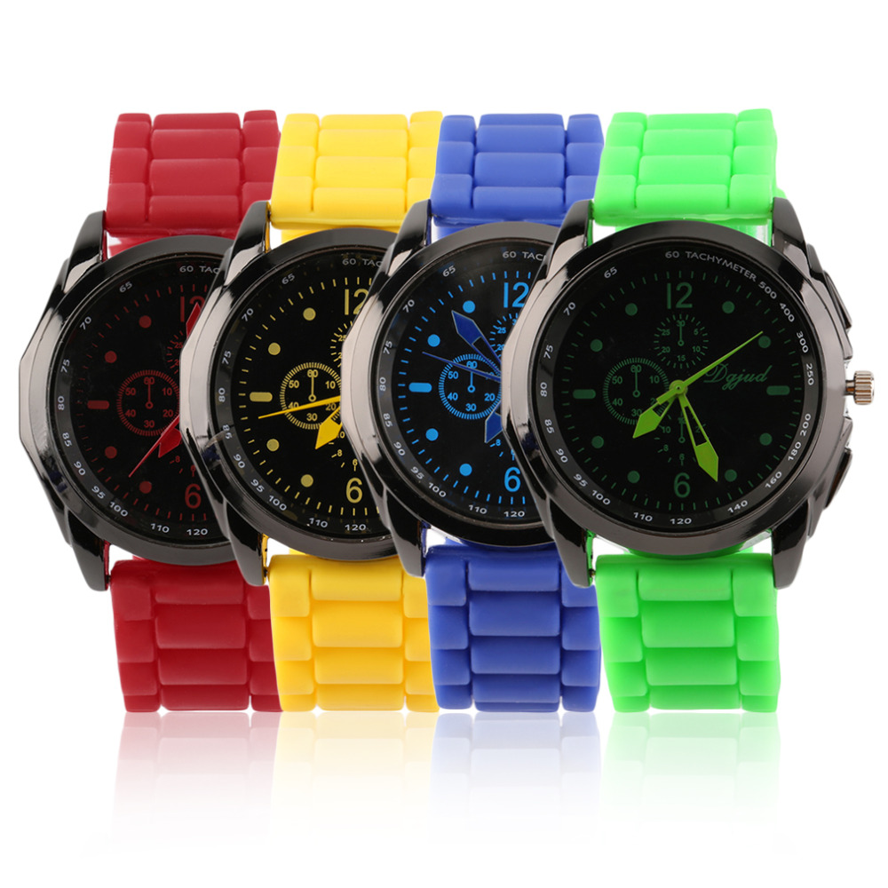 OUTAD Multicolor Unisex Gift Silicone Watch Strap Watch Quartz Analog New Sports Casual Wrist Watch Relogio
