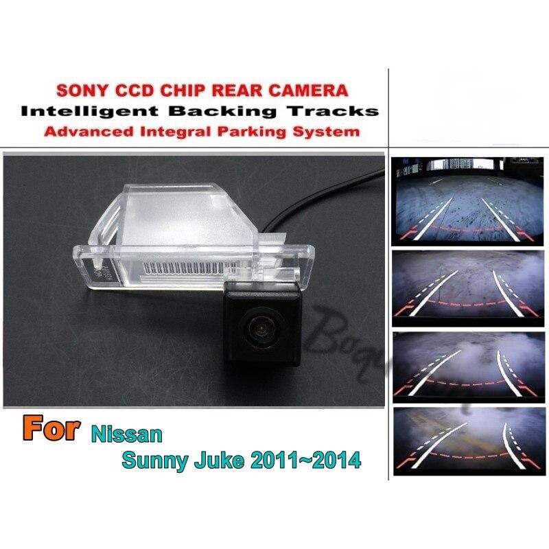 For Nissan Sunny Juke 11~14 Pathfinder Smart Tracks Chip Camera HD CCD Intelligent Dynamic Parking Camera Car Rear View Camera
