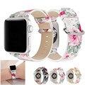 Ремешок для часов Apple Watch 38 мм 42 мм из мягкой искусственной кожи с цветочным рисунком  пасторальный ремешок для iWatch Series 3 Series 2 Series 1