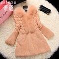 Winter new Women's fur coats,Plus sizes Fox fur collar Rabbit fur coats Ladies real fur coats rabbit coats overcoat FH623