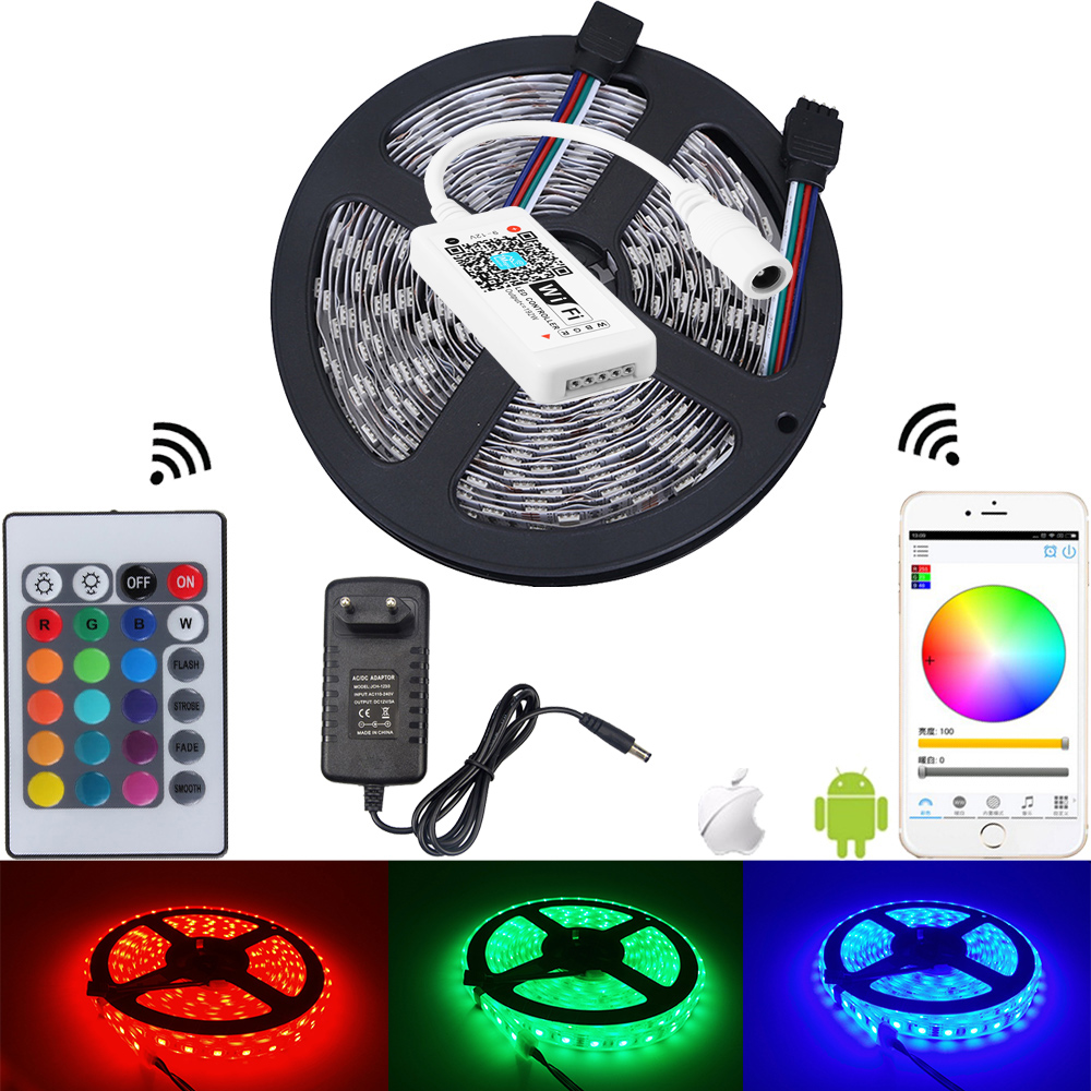 10 M 5050 RGB LED strip waterdicht IP65 5M RGB Flexibele tapekit Mini - LED-Verlichting
