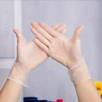 AIHOME 20Pcs/Lot Food Grade Plastic Transparent Disposable Gloves Cooking Kitchen Tools Dining & Bar|disposable gloves|disposable cooking gloves|plastic disposable gloves -