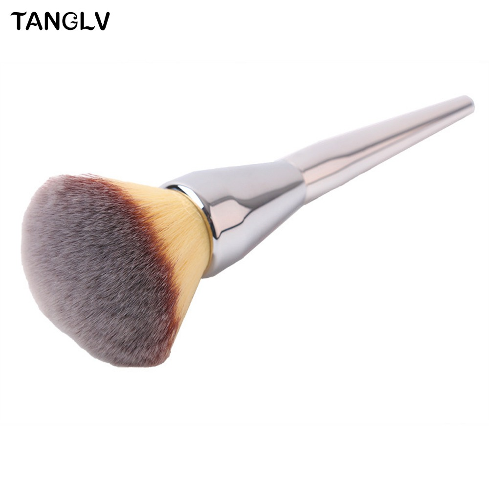 Very Big Beauty Powder Brush Makeup Brushes Blush Foundation Round Make Up Large Cosmetics Aluminum Brushes Soft Face Makeup very big beauty powder brush blush foundation round make up tool large cosmetics aluminum brushes soft face makeup free shipping