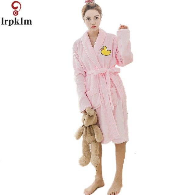 Winter Ladies Nightgown 2017 Flannel Bath Robe WomenRobe Sleepwear ...
