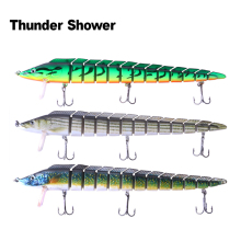 ThunderShower 3PCS Jerkbait Lengthy Fishing Lures 23CM 46G Wobblers Swimbait Crankbait Laborious Bait Fishing Sort out 13 Segments