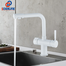 SOGNARE Filter Faucet for Kitchen Sink Mixer Tap 360 Rotation Water Filter Multi-color Kitchen Faucet Sink Tap Water Taps White xoxo filter kitchen faucet drinking water blcak deck mounted mixer tap 360 rotation brass pure filter kitchen sinks taps 81028