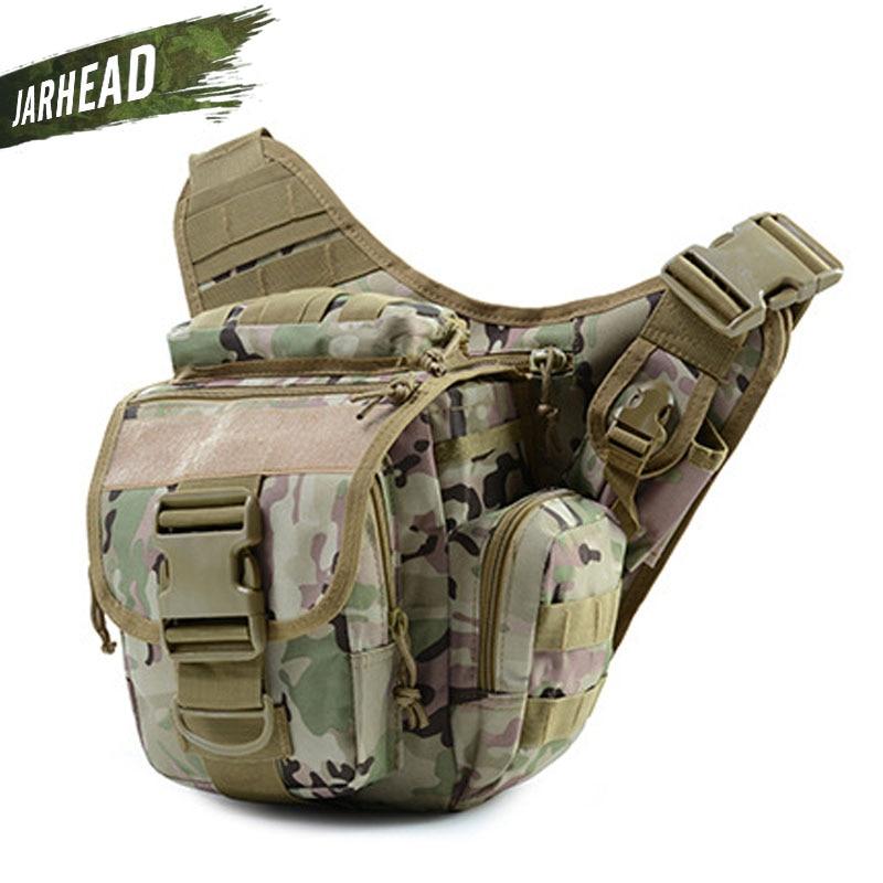 Military Tactical Shoulder Bag 900D Oxford Men Women Outdoor Camera Bag Waist Pack for Climbing Camping Trekking 9 Colors