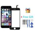Ipartsbuy 2 en 1 para iphone 6 (pantalla frontal exterior de la lente de cristal + flex cable + regalo libre)