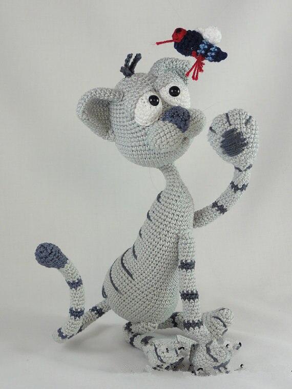Amigurumi Crochet Kit the Cat toy doll rattle amigurumi crochet doll pretty girl xingxing rattle toy