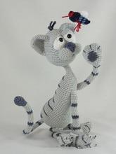 Amigurumi Crochet Kit the Cat toy doll  rattle