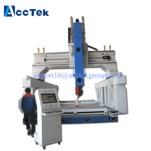AccTek factory supplier 4 axis cnc router, 5axis cnc router woodworking machine for sale