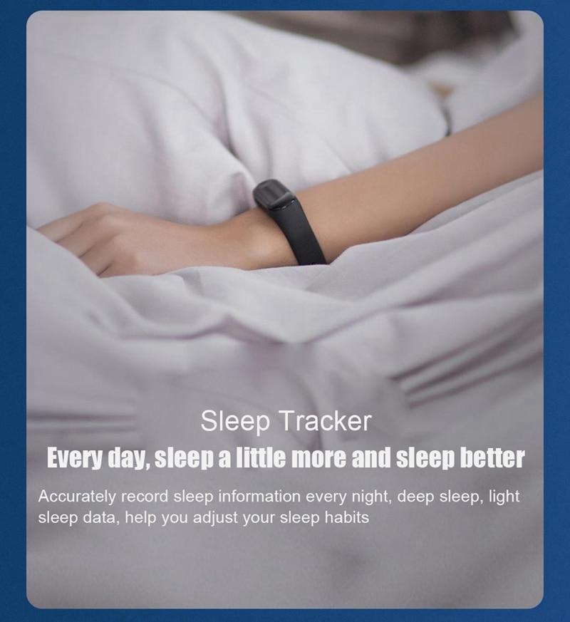 "Original Mi Band 3 Fitness Tracker Smart Bracelet 0.78""Color Screen 5ATM Waterproof Heart Rate Monitor Global Smartband In Stock 22"