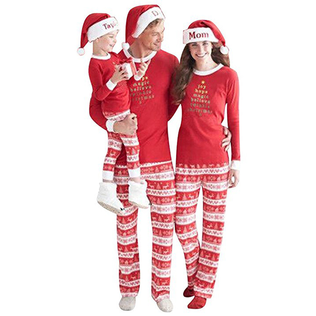 9704c17b5c69 Matching Family Christmas Pajamas Kids Boys Baby Christmas Pajama Sets  Children s Pajama For Couples Ladies Sleepwear Matching