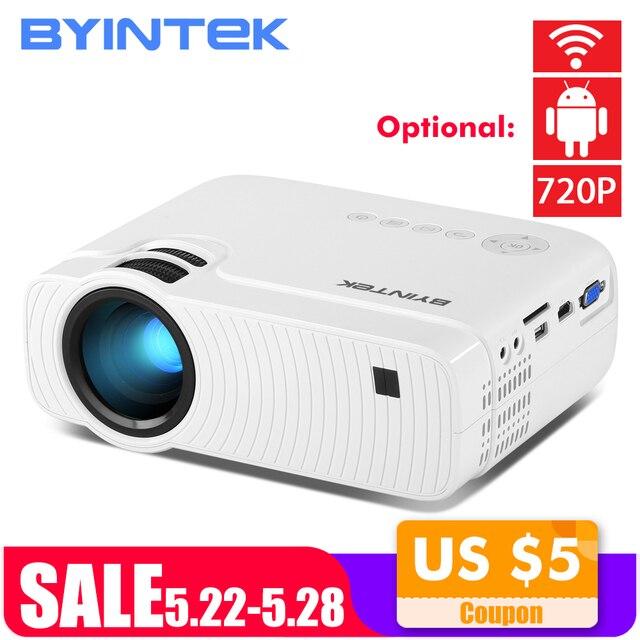 BYINTEK небо K2 150 дюймов светодиодный мини микро Портативный видео HD проектор с Динамик HDMI USB для игры кино 1080 P кинотеатр домашний кинотеатр