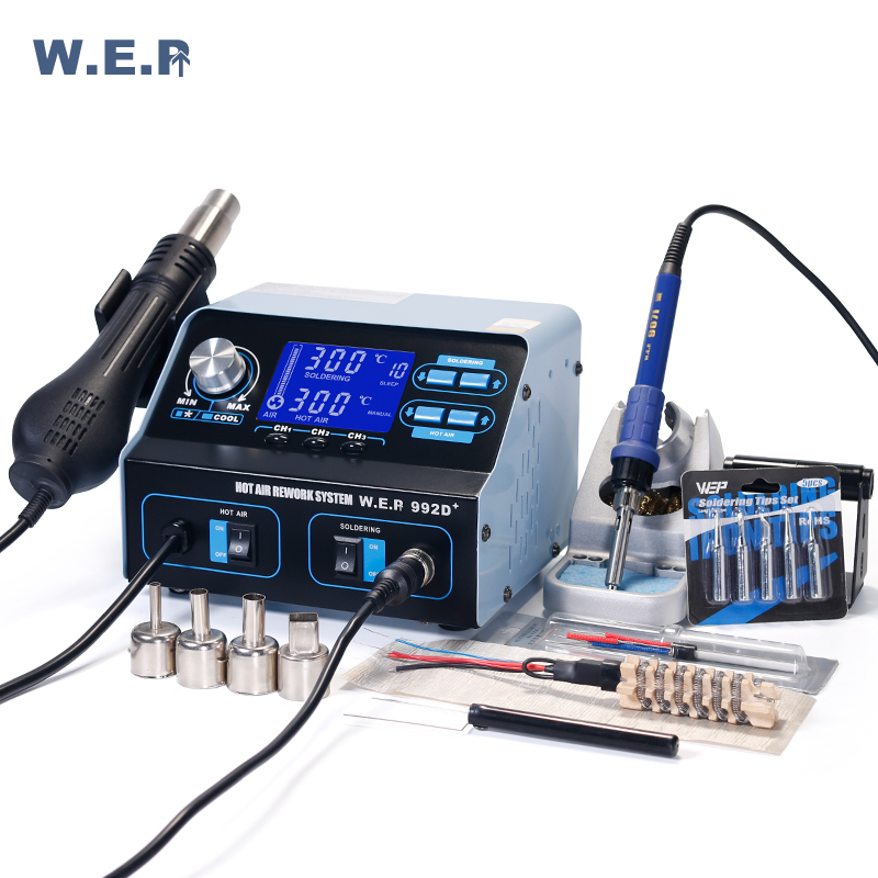 WEP 992D+BGA Rework Station Hot Air Desoldering Iron Soldering Station