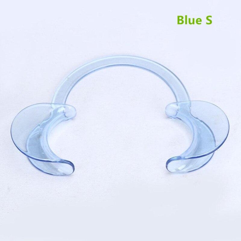 C-type мундштук Ортодонтическая открывалка для рта одноразовые открывающиеся зубные расширители для отбеливания зубов пластмассовая поддержка рта - Цвет: Blue S