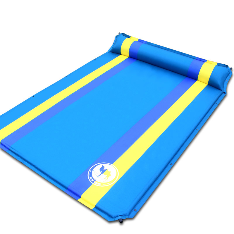 192*130*3.5cm <font><b>on</b></font> sale 2 persons PVC Automatic Inflatable Mattress Cushion Outdoor Camping Mat Moisture Pad
