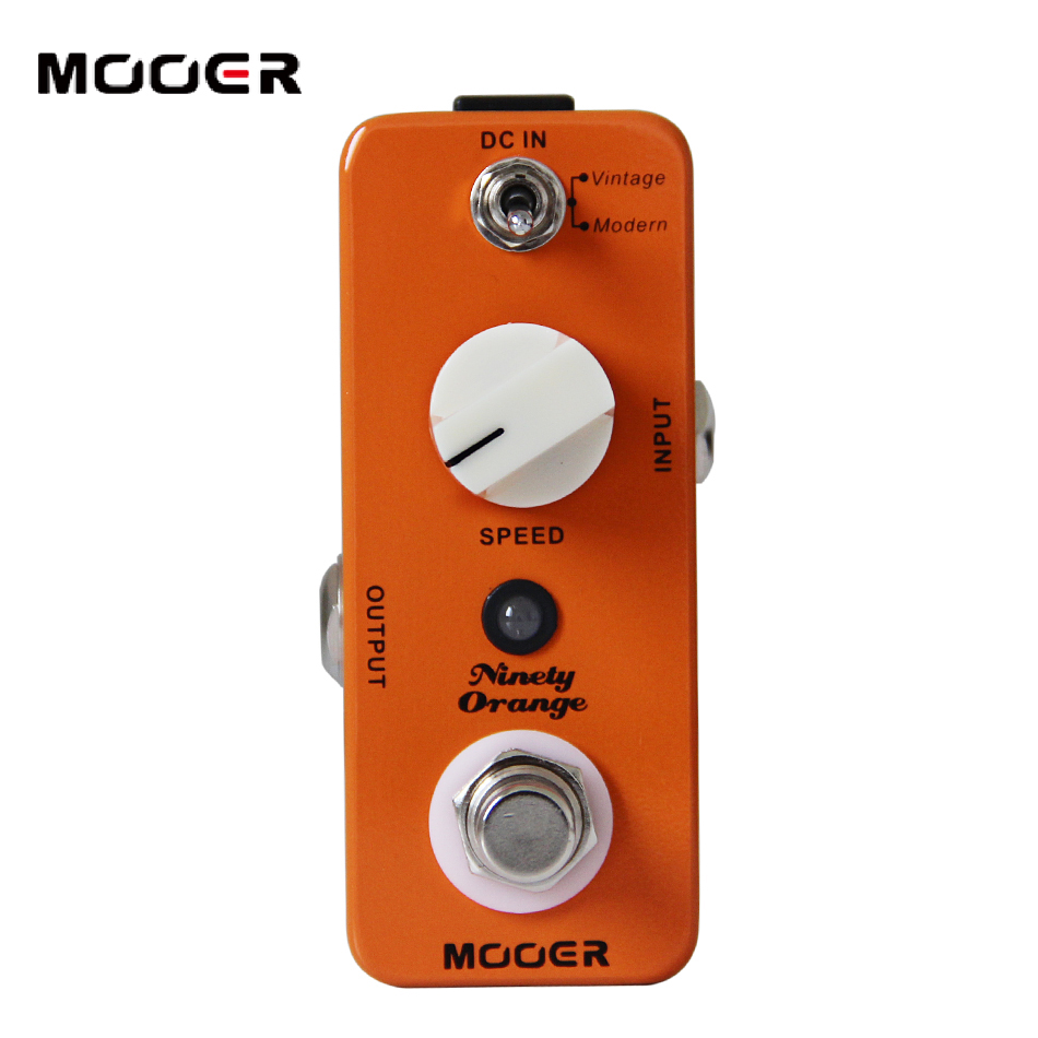 MOOER Ninety Orange Analog Phaser Effects Guitar Pedal mooer ninety orange phaser guitar effect pedal micro analog effects true bypass with free connector and footswitch topper