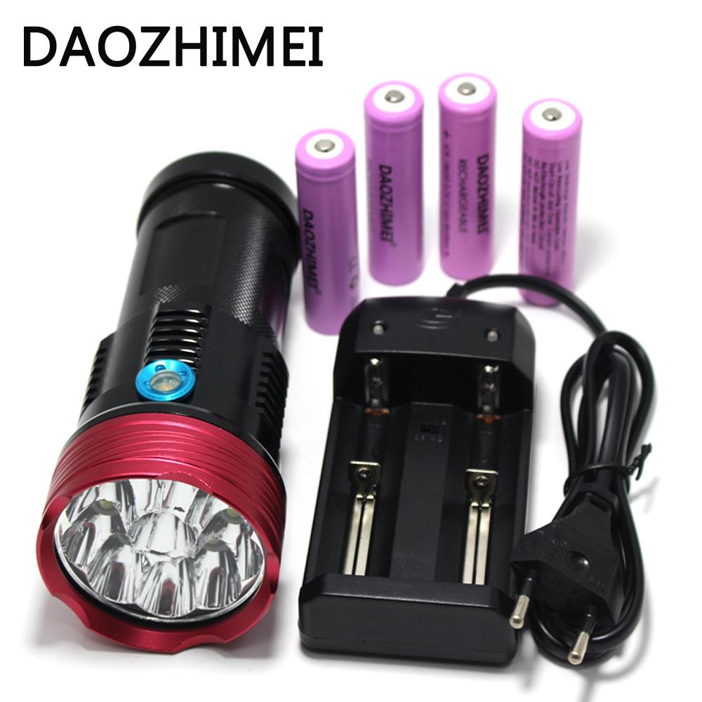 Systematic 20000 Lumens 10t6 Led Flashlamp 10 X Xm-l T6 Led Flashlight Torch Lamp Light/4*18650 5000mah Battery /charger Led Lighting Led Flashlights