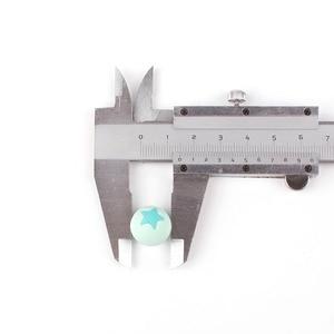 Image 5 - 50 шт Круглые Звездные силиконовые бусины 15 мм режущие шарики для зубов очищающий силиконовый Прорезыватель для зубов ожерелье украшение из бисера
