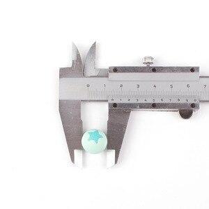 Image 5 - 50pc okrągła gwiazda kulki silikonowe 15MM ząbkowanie Chew piłki zęby oczyszczające pielęgnacja krzemu gryzak ozdoba do naszyjnika koralik