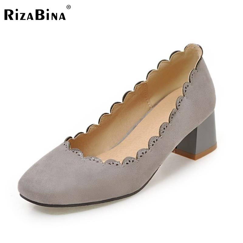 Size 32-43 Fashion Women's Flat Shoes Women Slip-On Round Toe Square Heel Flats Laies Simple Casual Sweet Lace Zapatos Mujer casual square toe and slip on design flat shoes for women
