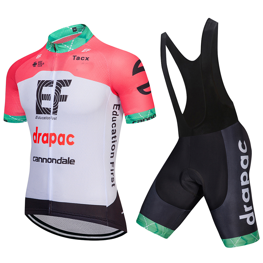 2018 Pro Cycling Jersey Set Maillot Ropa Ciclismo EF Jersey Set MTB Mountain Bike Sportswear Racing Bicycle Clothing Pink Men tinkoff saxo bank cycling jersey ropa clismo hombre abbigliamento ciclismo men s cycling clothing mtb bike maillot ciclismo d001
