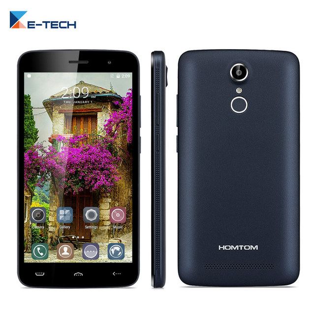 HOMTOM HT17 PRO 4G LTE Smartphone 5.5 inch Android 6.0 MTK6737 Quad Core Cell phone 2GB 16GB OTG 13.0MP fingerprint Mobile Phone