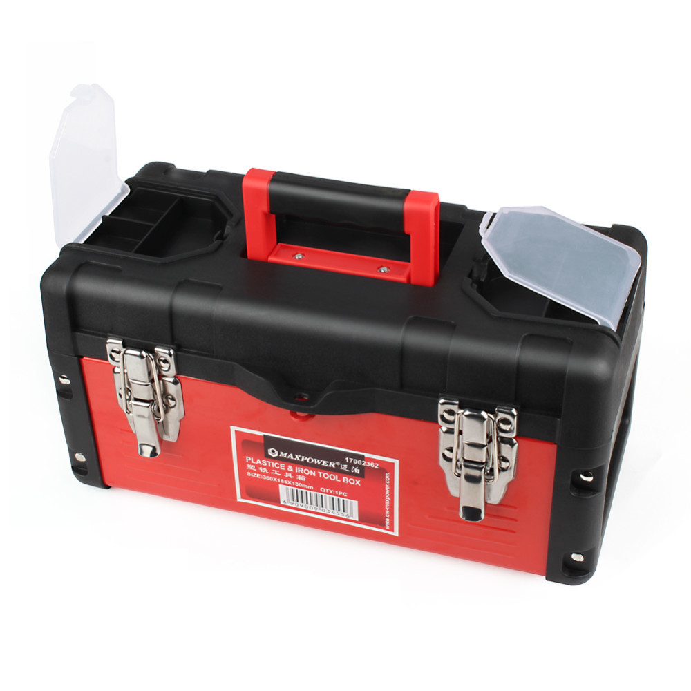 Maxpower Iron Tool Box Parts Portable Tool Box Large Storage For Tools Components Daily Necessities Woodworker Electrician BoxMaxpower Iron Tool Box Parts Portable Tool Box Large Storage For Tools Components Daily Necessities Woodworker Electrician Box