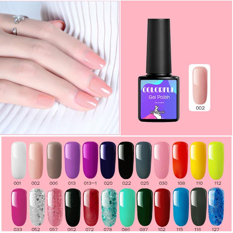 Lghzlink 8 мл чистого 29 цветов УФ-гель для ногтей Soak Off Lucky лак грунт Гибридный лак для ногтей гель эмалированный, разукрашенный Gellak