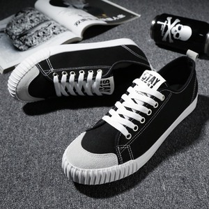 Image 2 - WOLF WHO New Gray Sneakers Men canvas Lace up Casual shoes Male Breathable Espadrilles Man Plimsolls buty meskie krasovki X 065
