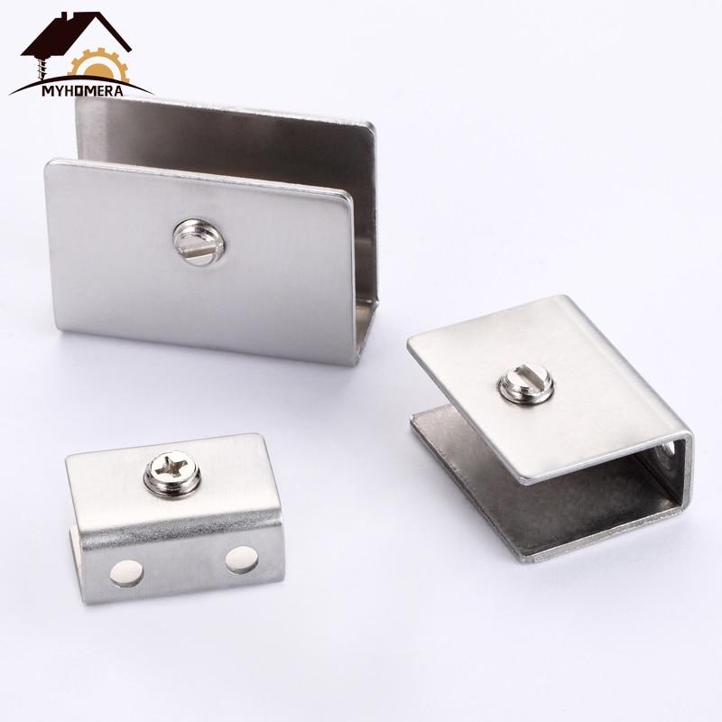 10mm-13mm Adjustable 180 Degree Dual Ways Aluminum Glass Clamp Clip Door Hinge