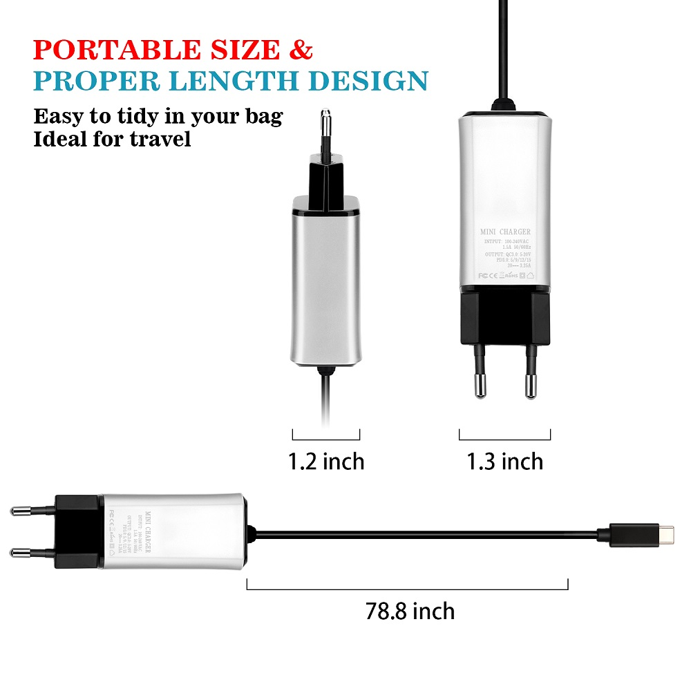 65W USB TYPE C PD Charger  for MacBook Air 2018, iPad Pro 2018, Google Pixel 3/2 /Pixel XL Galaxy S9/ S9+/ Note 9,For Huawei