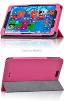 Ultra Slim 3 Fold Manget Sleep Silk Grain Folio Stand Leather Cover Smart Tablet Case For