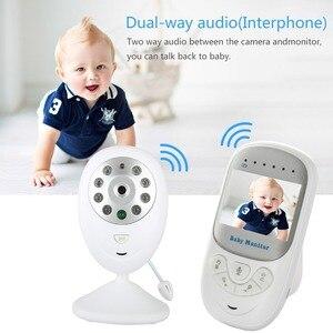 "Image 2 - Draadloze Baby Slapen Monitor 2.4 ""LCD HD Video Beveiliging Digitale Camera Twee weg Talk Nigh Vision IR Temperatuur huilen Alarm"