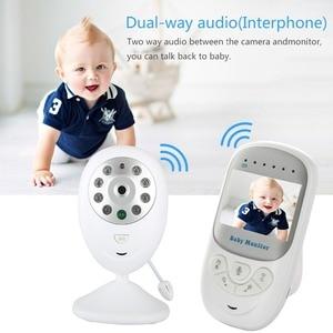 "Image 2 - Wireless Baby Monitor 2.4"" LCD HD Video Security Digital Camera Two Way Talk Nigh Vision IR Temperature Monitoring Crying Alarm"