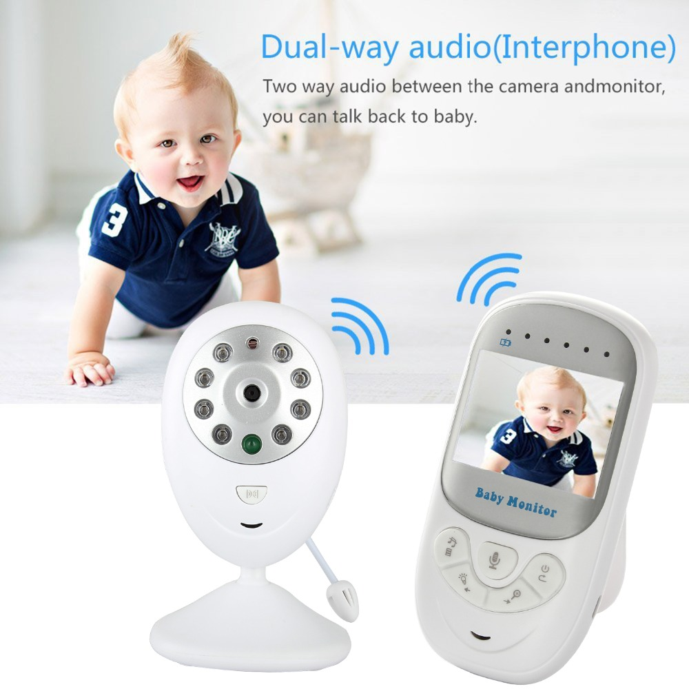 Wireless Baby Monitor 2.4 inch LCD HD Video Security Digital Camera Two-Way Talk Nigh Vision IR Temperature Monitor Crying Alarm wireless 7inch lcd monitor